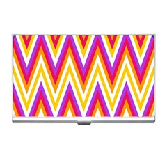 Colorful Chevrons Zigzag Pattern Seamless Business Card Holders
