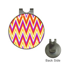 Colorful Chevrons Zigzag Pattern Seamless Hat Clips with Golf Markers