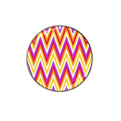 Colorful Chevrons Zigzag Pattern Seamless Hat Clip Ball Marker (10 pack)