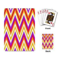 Colorful Chevrons Zigzag Pattern Seamless Playing Card