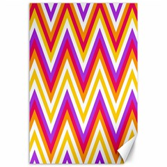 Colorful Chevrons Zigzag Pattern Seamless Canvas 24  X 36