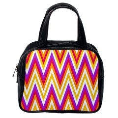 Colorful Chevrons Zigzag Pattern Seamless Classic Handbags (one Side)