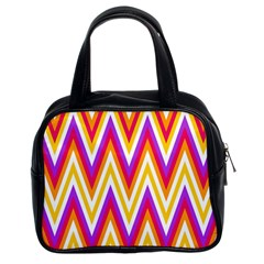 Colorful Chevrons Zigzag Pattern Seamless Classic Handbags (2 Sides)