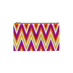 Colorful Chevrons Zigzag Pattern Seamless Cosmetic Bag (small)