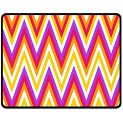 Colorful Chevrons Zigzag Pattern Seamless Fleece Blanket (medium)