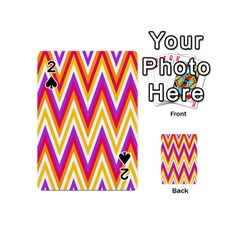 Colorful Chevrons Zigzag Pattern Seamless Playing Cards 54 (Mini)