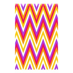 Colorful Chevrons Zigzag Pattern Seamless Shower Curtain 48  x 72  (Small)