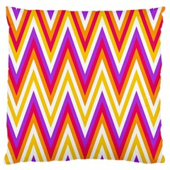 Colorful Chevrons Zigzag Pattern Seamless Large Cushion Case (One Side)