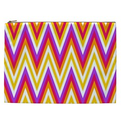 Colorful Chevrons Zigzag Pattern Seamless Cosmetic Bag (XXL)