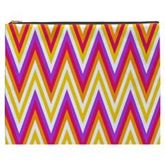 Colorful Chevrons Zigzag Pattern Seamless Cosmetic Bag (XXXL)