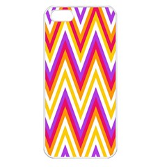 Colorful Chevrons Zigzag Pattern Seamless Apple iPhone 5 Seamless Case (White)