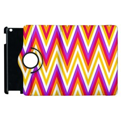 Colorful Chevrons Zigzag Pattern Seamless Apple iPad 2 Flip 360 Case