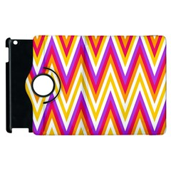 Colorful Chevrons Zigzag Pattern Seamless Apple iPad 3/4 Flip 360 Case
