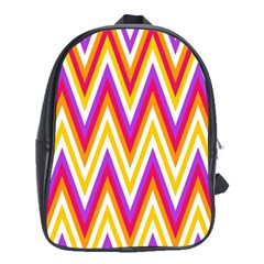 Colorful Chevrons Zigzag Pattern Seamless School Bags (xl)