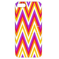 Colorful Chevrons Zigzag Pattern Seamless Apple iPhone 5 Hardshell Case with Stand