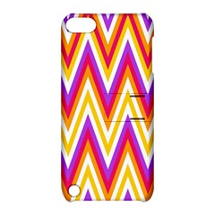 Colorful Chevrons Zigzag Pattern Seamless Apple Ipod Touch 5 Hardshell Case With Stand