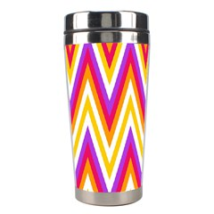 Colorful Chevrons Zigzag Pattern Seamless Stainless Steel Travel Tumblers