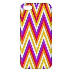 Colorful Chevrons Zigzag Pattern Seamless iPhone 5S/ SE Premium Hardshell Case