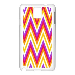 Colorful Chevrons Zigzag Pattern Seamless Samsung Galaxy Note 3 N9005 Case (White)