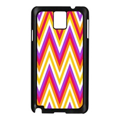 Colorful Chevrons Zigzag Pattern Seamless Samsung Galaxy Note 3 N9005 Case (Black)