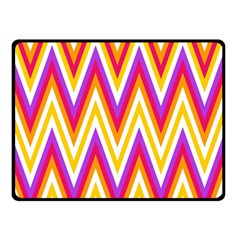 Colorful Chevrons Zigzag Pattern Seamless Double Sided Fleece Blanket (Small)