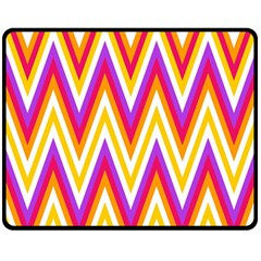 Colorful Chevrons Zigzag Pattern Seamless Double Sided Fleece Blanket (Medium)