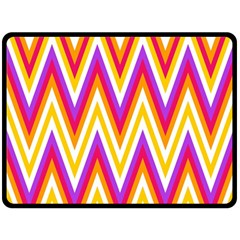 Colorful Chevrons Zigzag Pattern Seamless Double Sided Fleece Blanket (Large)