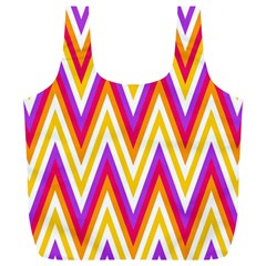 Colorful Chevrons Zigzag Pattern Seamless Full Print Recycle Bags (L)