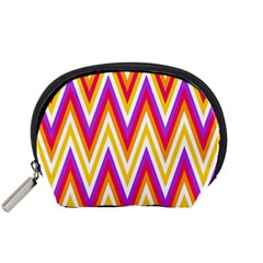 Colorful Chevrons Zigzag Pattern Seamless Accessory Pouches (Small)