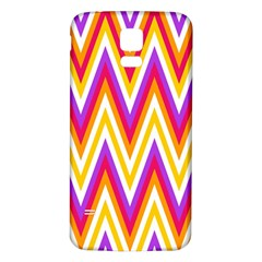 Colorful Chevrons Zigzag Pattern Seamless Samsung Galaxy S5 Back Case (white)