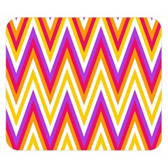 Colorful Chevrons Zigzag Pattern Seamless Double Sided Flano Blanket (small)