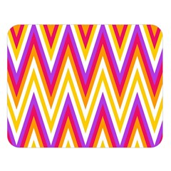 Colorful Chevrons Zigzag Pattern Seamless Double Sided Flano Blanket (large)