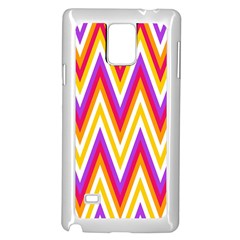 Colorful Chevrons Zigzag Pattern Seamless Samsung Galaxy Note 4 Case (white)