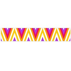 Colorful Chevrons Zigzag Pattern Seamless Flano Scarf (Large)