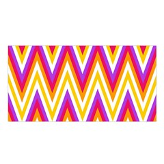 Colorful Chevrons Zigzag Pattern Seamless Satin Shawl
