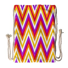 Colorful Chevrons Zigzag Pattern Seamless Drawstring Bag (Large)