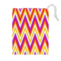 Colorful Chevrons Zigzag Pattern Seamless Drawstring Pouches (extra Large)