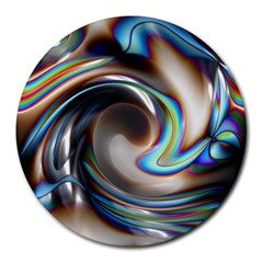 Twirl Liquid Crystal Round Mousepads