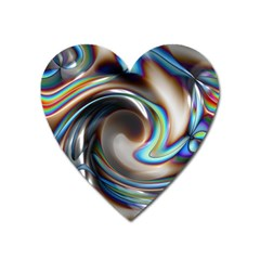 Twirl Liquid Crystal Heart Magnet