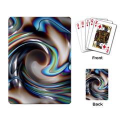 Twirl Liquid Crystal Playing Card