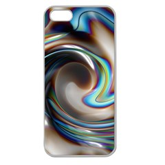 Twirl Liquid Crystal Apple Seamless iPhone 5 Case (Clear)