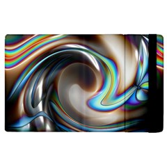 Twirl Liquid Crystal Apple iPad 3/4 Flip Case