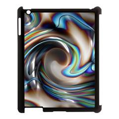 Twirl Liquid Crystal Apple iPad 3/4 Case (Black)