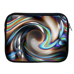 Twirl Liquid Crystal Apple iPad 2/3/4 Zipper Cases