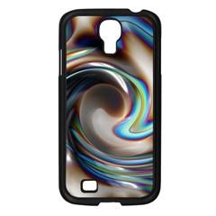 Twirl Liquid Crystal Samsung Galaxy S4 I9500/ I9505 Case (Black)