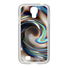 Twirl Liquid Crystal Samsung GALAXY S4 I9500/ I9505 Case (White)