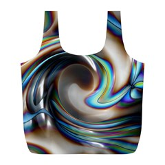 Twirl Liquid Crystal Full Print Recycle Bags (L)