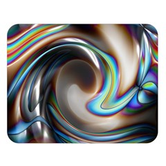 Twirl Liquid Crystal Double Sided Flano Blanket (Large)