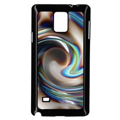 Twirl Liquid Crystal Samsung Galaxy Note 4 Case (Black)