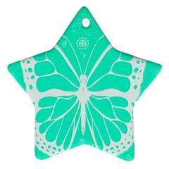 Butterfly Cut Out Flowers Ornament (Star)